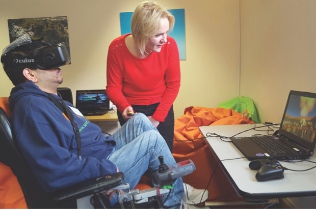 Clinicians continue to research the potential side-effects of time spent in VR © specialeffect.org.uk