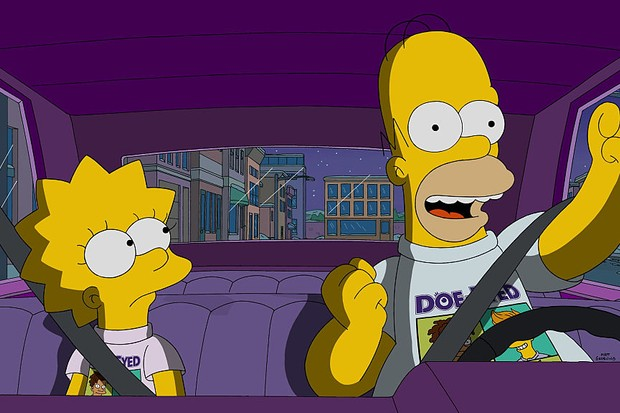 THE SIMPSONS: Homer enjoy the perks of Lisa having a rich friend in the all-new Friend with Benefit episode of THE SIMPSONS airing Sunday, Nov. 8 (8:00-8:30 PM ET/PT) on FOX.  (Photo by FOX via Getty Images)