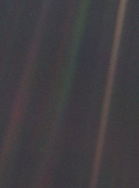 The famous Pale Blue Dot image: can you spot it? © NASA/JPL