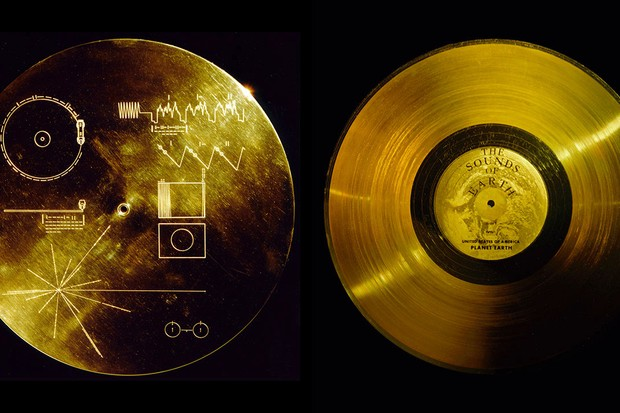 Voyager 1's Golden Record, etched with instructions on how to play it © NASA/JPL