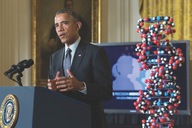 As US president, Barack Obama launched the Precision Medicine Initiative to sequence the DNA of one million volunteers and track their health over many years © Getty Images