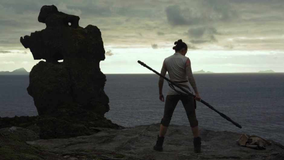 Rey, played by Daisy Ridley, trains in the ways of the Force in Star Wars: The Last Jedi © 2017 Lucasfilm Ltd.