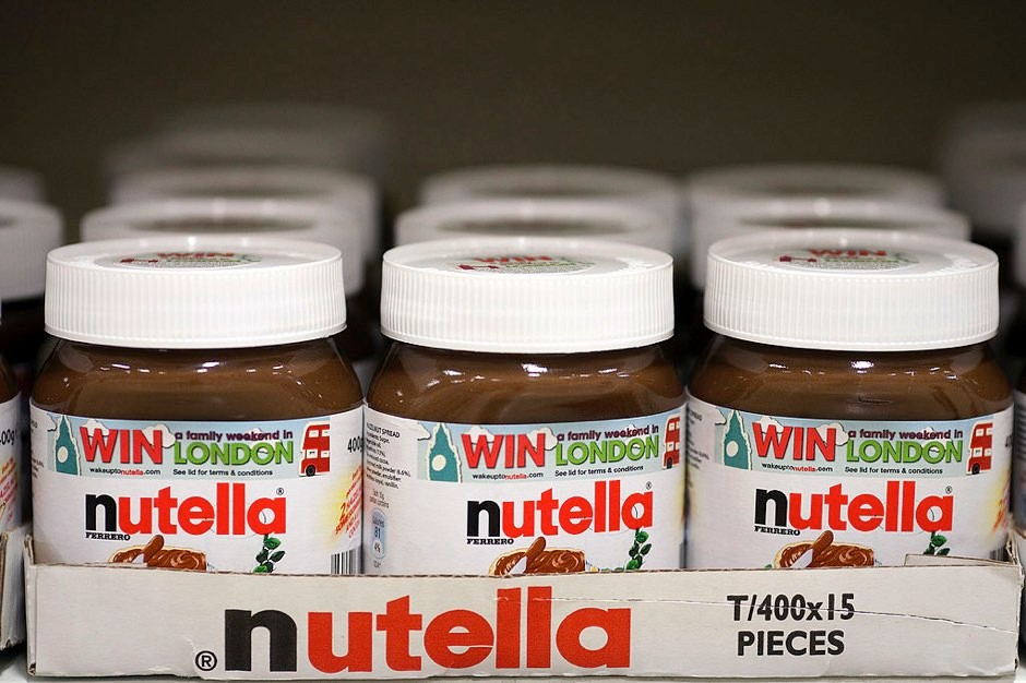 Jars of nutella hazelnut chocolate spread © Simon Dawson/Bloomberg via Getty Images