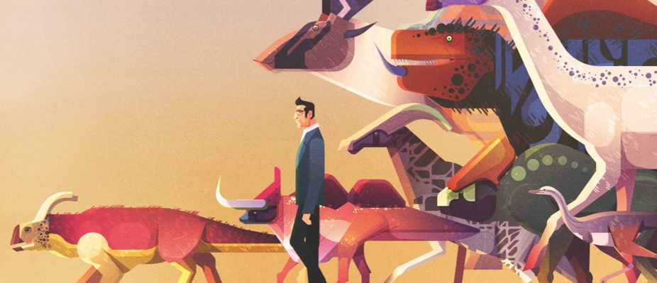 What if the dinosaurs had survived? © James Gilleard