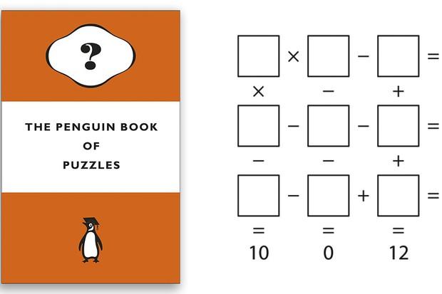 The Penguin Book Of Puzzles Dr Gareth Moore £12.99, Michael Joseph