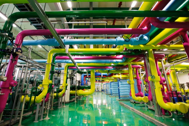 Google's vast data centres generate a lot of heat, but a network of multicoloured water pipes keeps things cool © Getty images