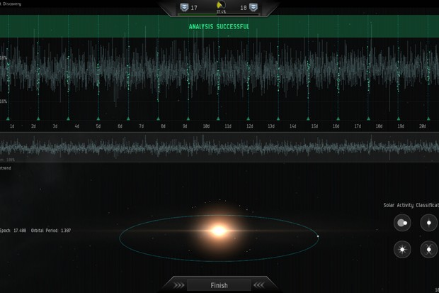 EVE Online players use this in-game Project Discovery interface to help astronomers search for exoplanets