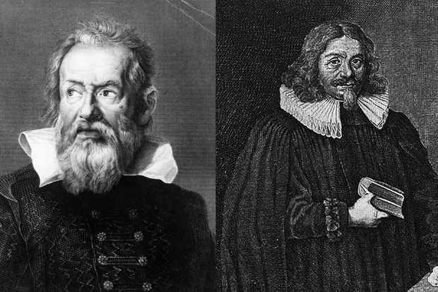 Galileo Galilei (left) and Johannes Fabricius (right)