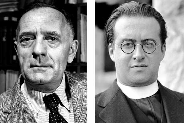 Edwin Hubble (left), Georges Lemaître (right)