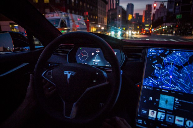 The new Tesla autopilot relies on radar more than cameras to ensure you stay within the white lines on motorways © Getty Images
