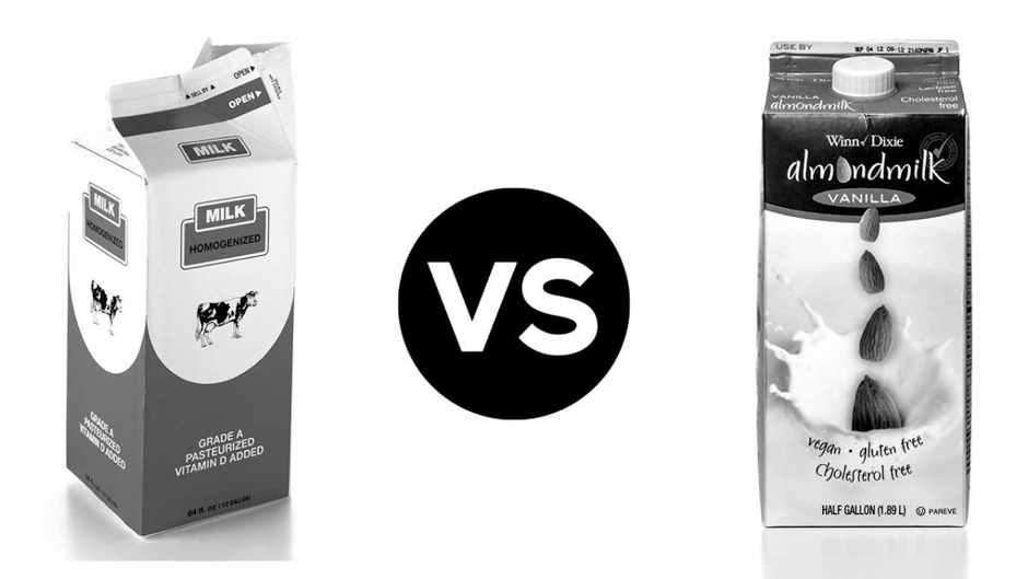 Head to head: Cow's milk vs almond milk