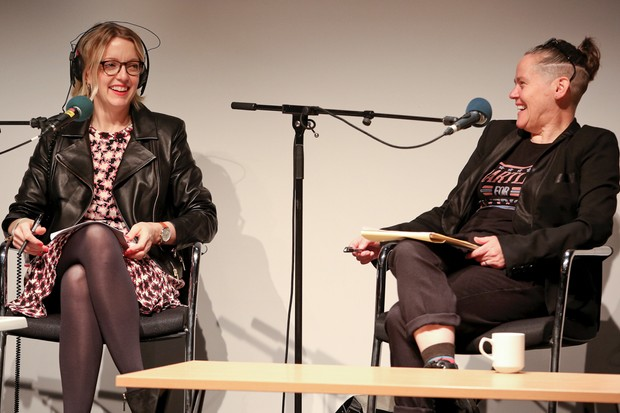 Lauren Laverne and Prof Sarah Kember © BBC
