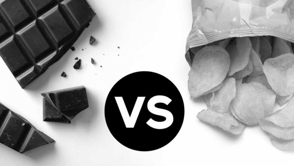 Head to head: chocolate vs crisps