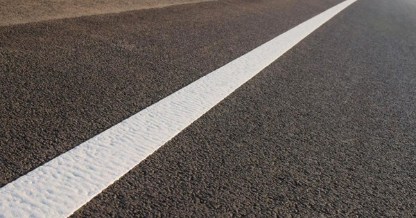 How do they paint white lines on roads so accurately?