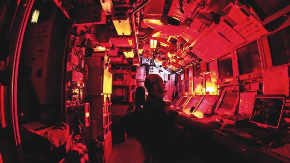 Why is red light used on submarines?