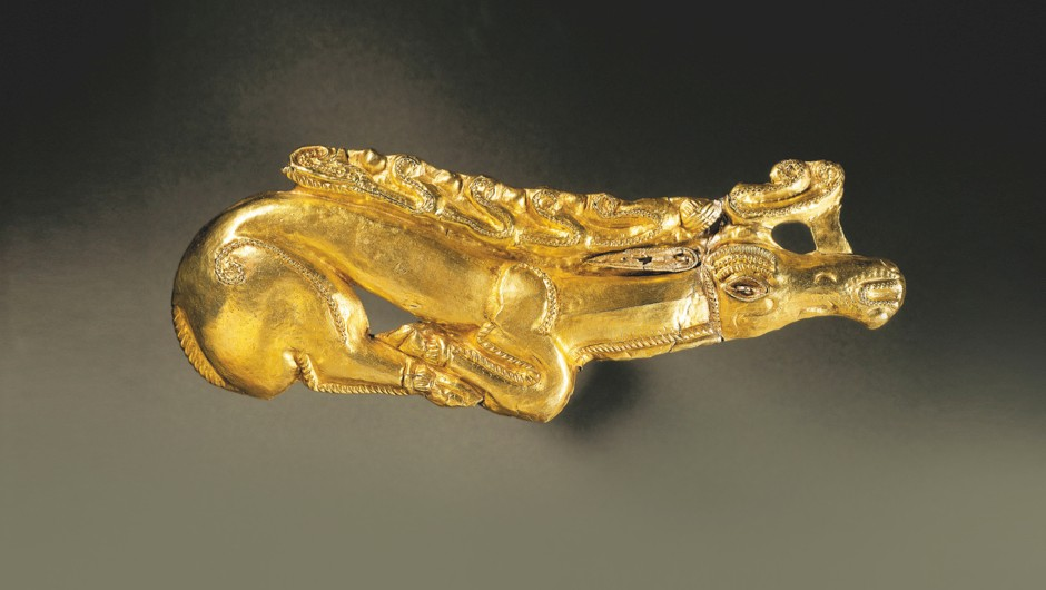 Figure of a deer, moulded from electrum, dating back to the Thracian-Getan civilisation in the 4th Century BC © Getty Images