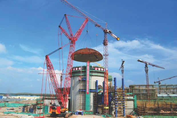 A general view at the construction site of No. 2 reactor of the Changjiang Nuclear Power Plan, Hainan Island, China (© VCG/VCG via Getty Images)