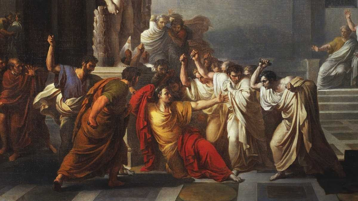 The death of Julius Caesar, 1805-1806, by Vincenzo Camuccini (1771-1844) © DeAgostini/Getty Images