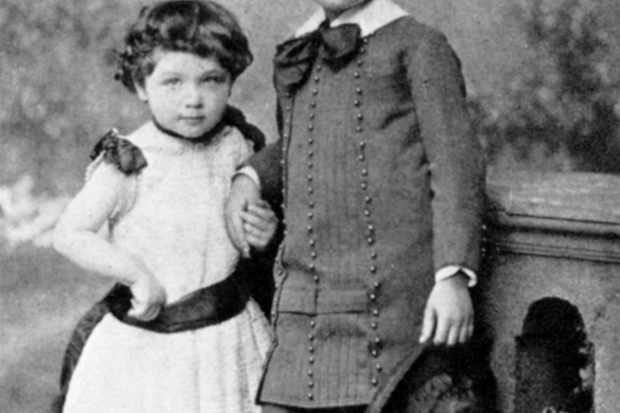 Albert Einstein, (1879-1955), theoretical physicist, and his sister Maja as small children, 1880s. © Ann Ronan Pictures/Print Collector/Getty Images