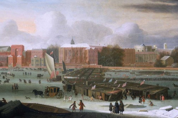 'A Frost Fair on the Thames at Temple Stairs', c1684 © Museum of London/Heritage Images/Getty Images)