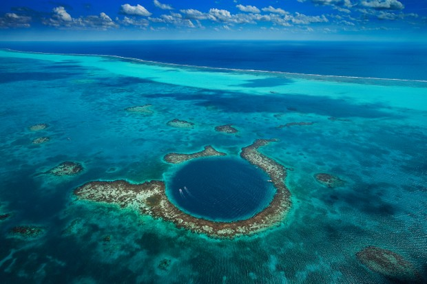 The Great Blue Hole, Lighthouse Reef, Belize © Yann Arthus-Bertrand/Getty Images