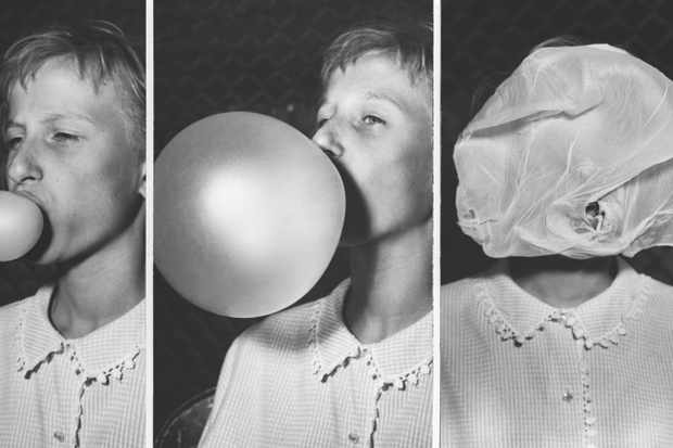 Foods and flavours are always evolving. Bubblegum – demonstrated here at a bubble-blowing contest in the 1950s – was an invention of the 20th Century © Getty Images