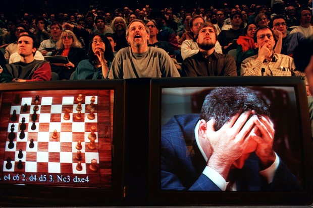 1997 - Deep Blue defeats chess Grandmaster © Stan Honda/AFP/Getty Images