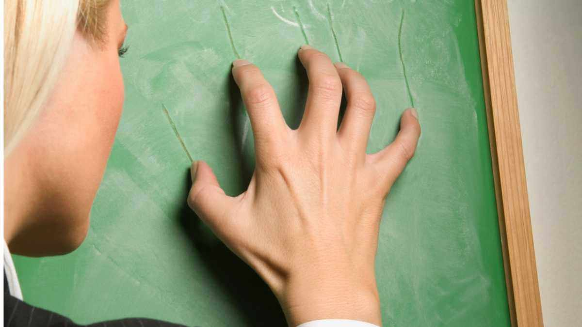 Why does the sound of nails scratching a chalkboard make me cringe? © Getty Images