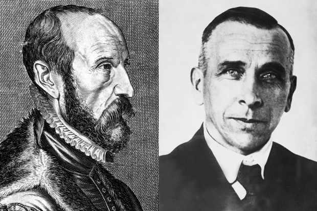 Abraham Ortelius (left) and Alfred Wegener (right)