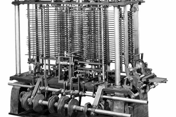 Model of Charles Babbage's analytical engine © Getty