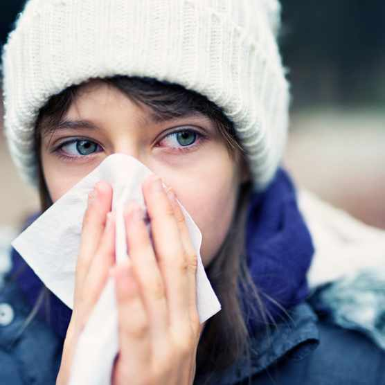Why does my nose run in cold weather? © Getty Images