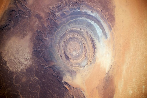 Astronauts aboard the International Space Station capture the Richat structure © NASA/SPL/Barcroft Media via Getty Images