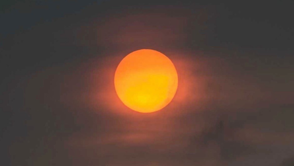 The sky was bright orange across much of the UK on 16 October 2017 © Rob Ball/Getty