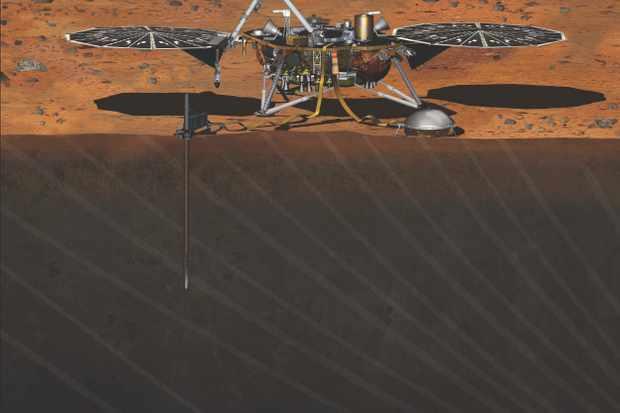 NASA's Mars InSight lander is due to arrive at the Red Planet later this year, and should tell us even more about the planet's interior © NASA
