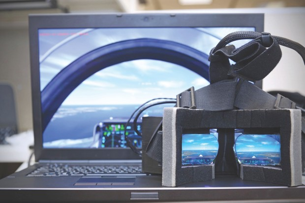 Aircraft simulators are the most tried-and-tested 3D technology on the market © Lockheed Martin