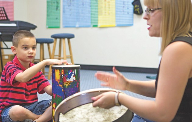 Research suggests that autistic children find social interaction easier when accompanied by music (© Press Association)