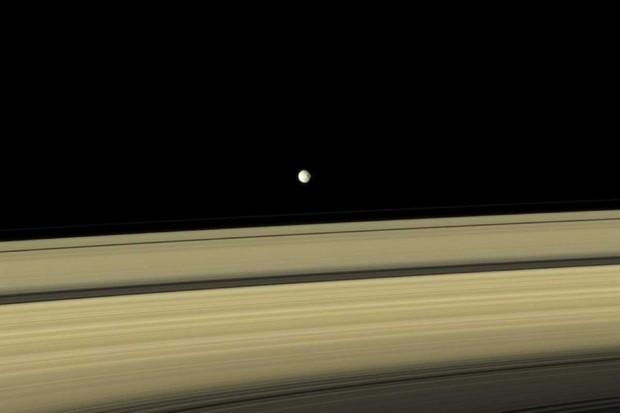 Saturn moon Mimas © NASA