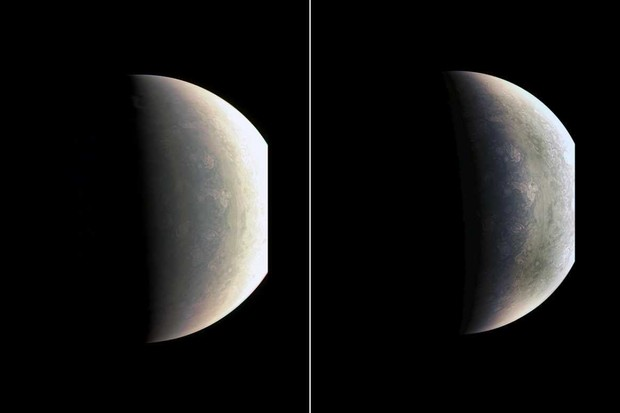 Views of Jupiter's north pole © NASA/JPL-Caltech/SwRI/MSSS