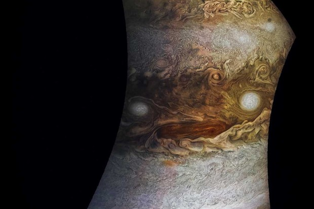 The 'face' of Jupiter © NASA/JPL-Caltech/SwRI/MSSS/Jason Major