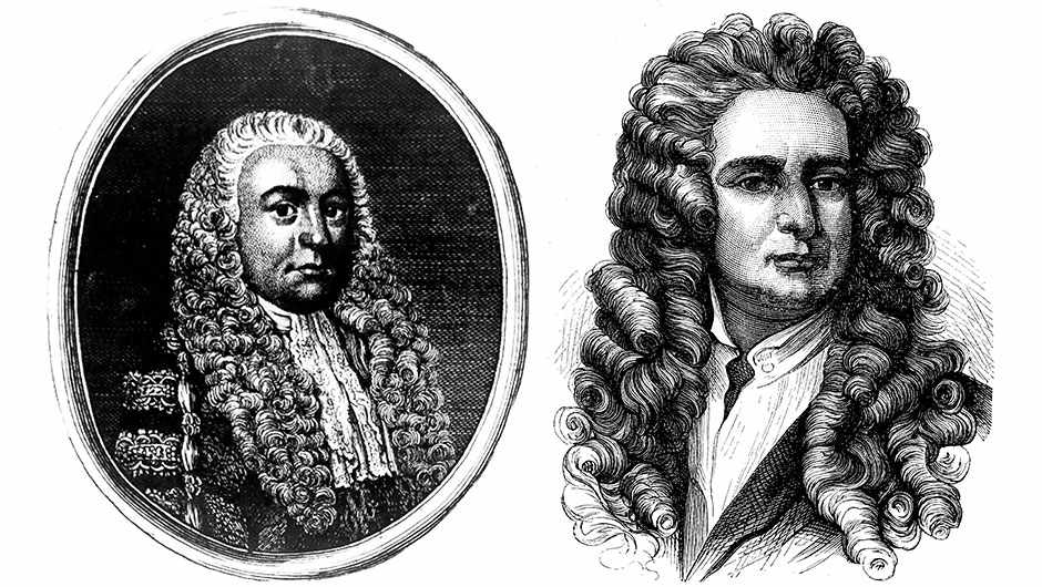 Robert Hooke (Alamy) & Isaac Newton (Getty Images)