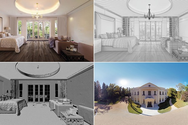 UK estate agents teamed up with VR technology company Rewind to build a virtual reproduction of a £16.75-million Surrey mansion's interior. Key rooms were scanned, allowing depth data to be combined with photogrammetry for 'a realistic and important feeling of space and scale' © Savills Estate Agents