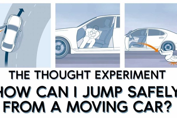 The thought experiment: How can I jump safely from a moving car? © Acute Graphics