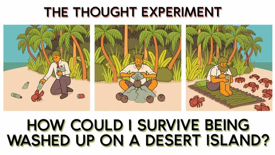 The thought experiment: How could I survive being washed up on a desert island?