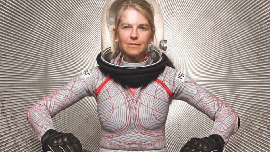 Aerospace engineer Dava Newman developed this BioSuit for Mars missions; it has a tight, elastic structure that counteracts lower pressure © Dava Newman/MIT