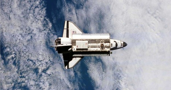 How does the shuttle move in space when there's no air to create lift?
