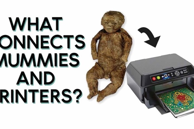 What connects mummies and printers?
