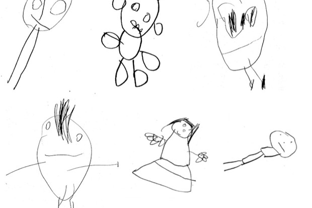 A selection of the images drawn by the children (image credit: Twins Early Development Study, King's College London)