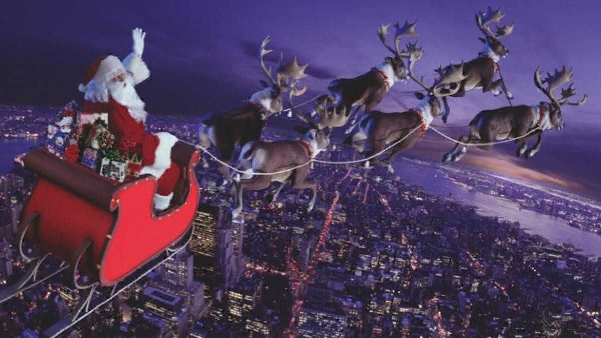How fast would Santa Claus have to fly to visit every child in the world? © Getty Images