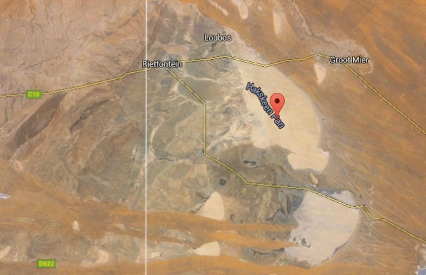 Flat as a pancake (© 2015 Landsat, Google)
