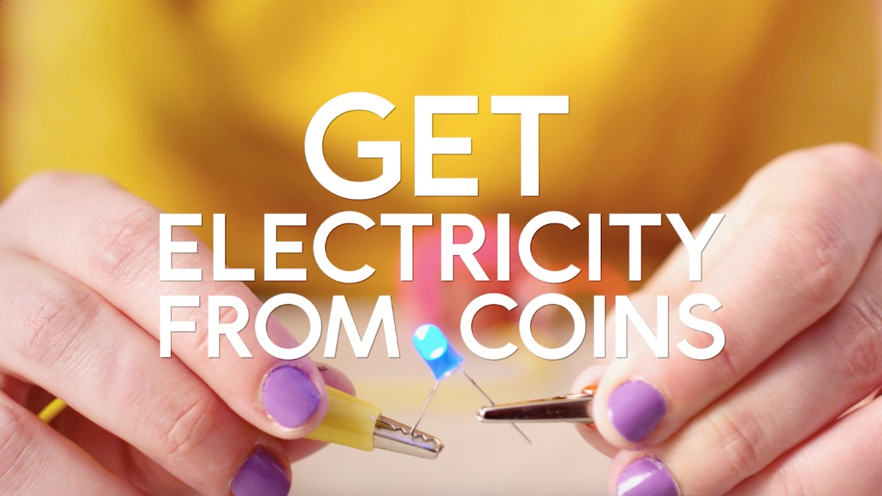 How to get electricity from coins